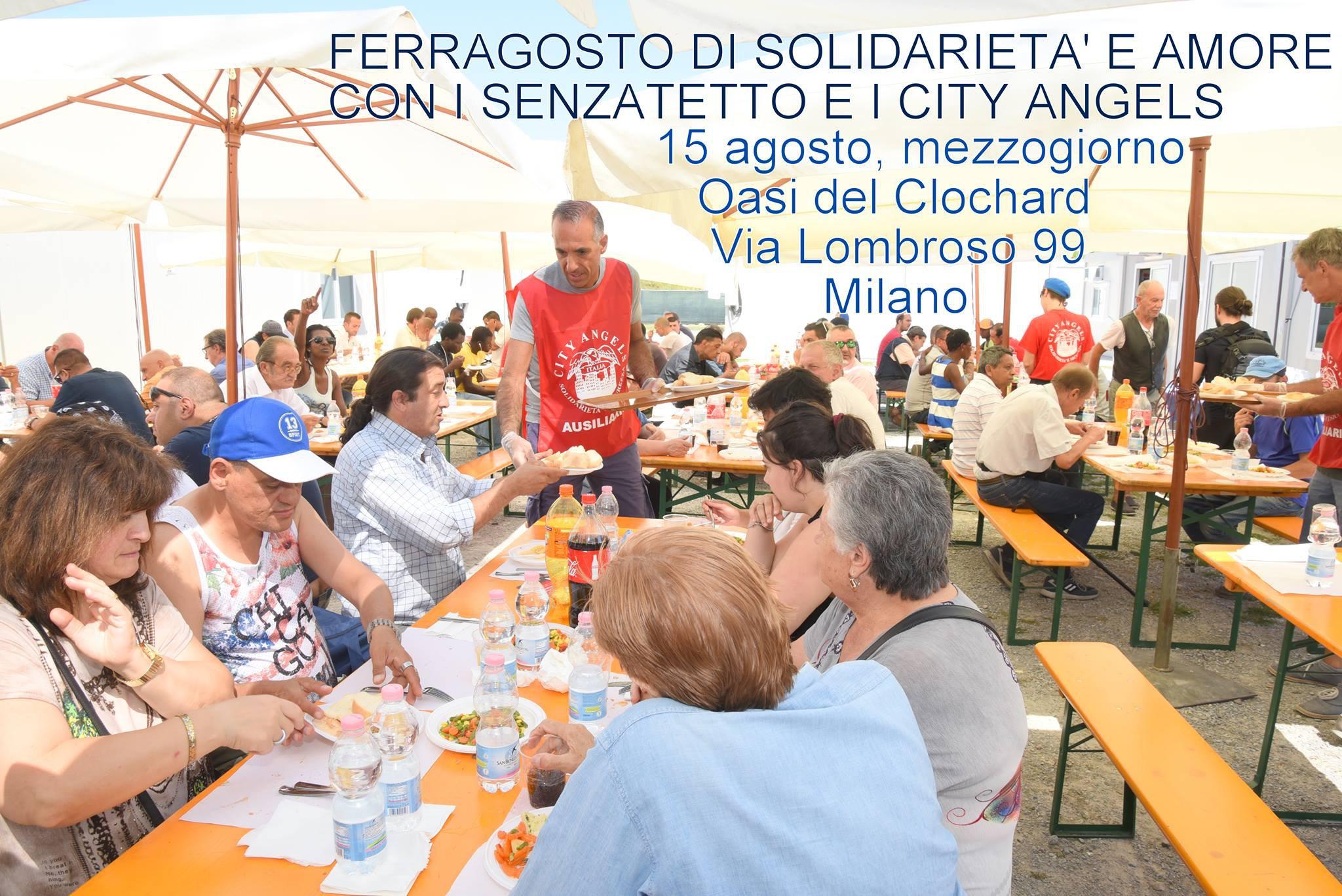 City Angels, il pranzo di Ferragosto per clochard è organizzato via Facebook