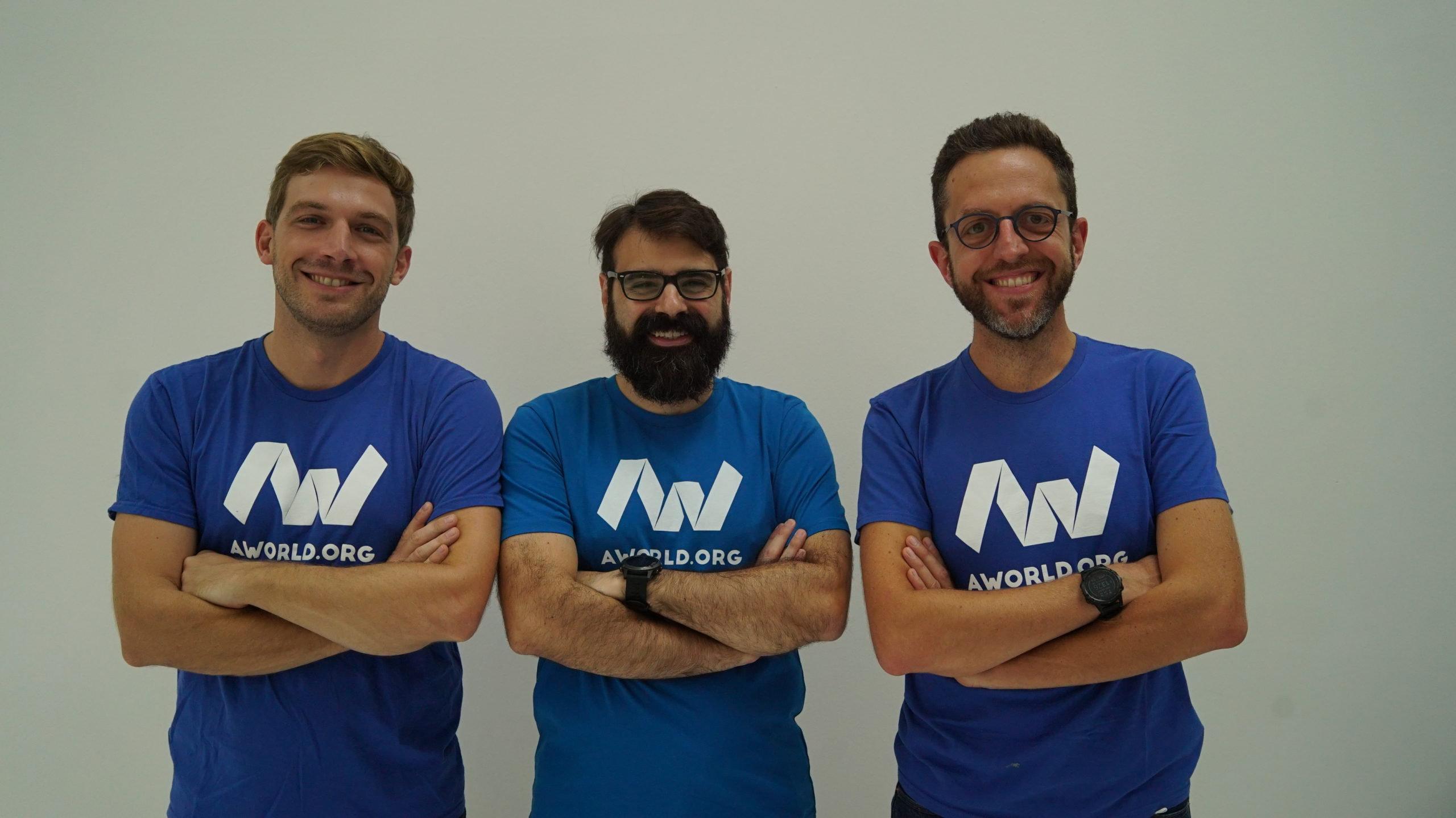 Armillotta,Lancieri e Armellino, fondatori di AWorld