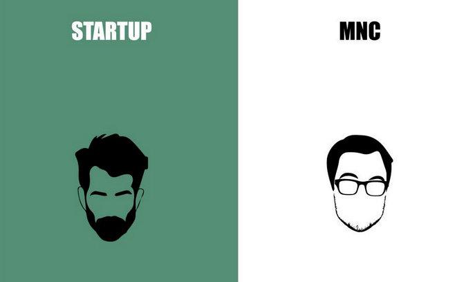 10 illustrazioni epiche sulle differenze tra lavorare in una startup o in un'azienda normale