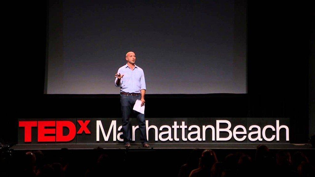 Marco Villa durante una TedX