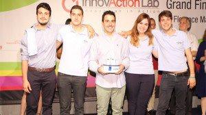 Il team di MEMiO, che ha vinto InnovActionLab 2015