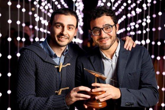 """Due dei fondatori di """"Guide Me Right"""" Pietro Pirino e Luca Sini"""