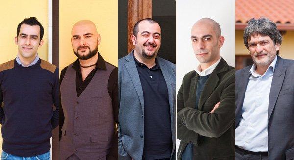 I fondatori di Sardex (da sinistra): Gabriele Littera, Piero Sanna, Carlo Mancuso, Giuseppe Littera and Franco Contu. Foto: Alessandro Toscano