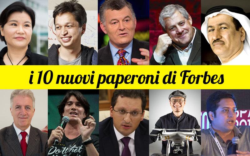 i 10 nuovi paperoni di Forbes