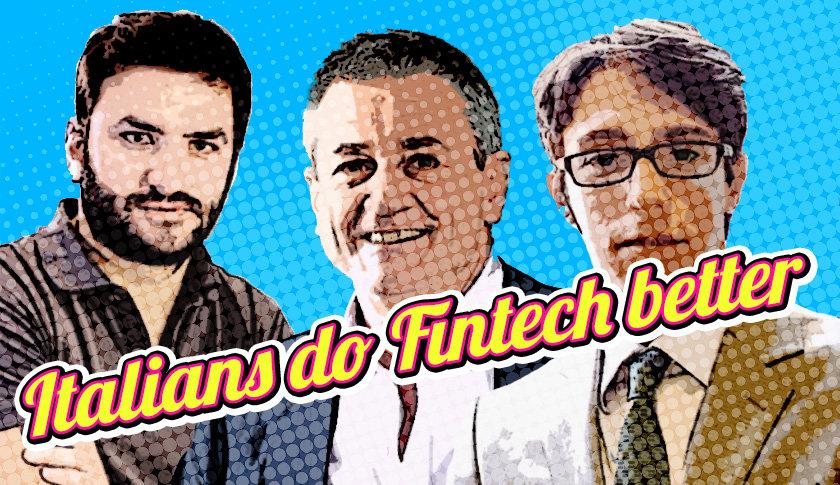 """Italians do Fintech Better"": da sx Alberto Dalmasso (Satispay), Ignazio Rocco di Torrepadula (Instapartners e Giovanni Daprà (Moneyfarm). (copertina di Aldo V. Pecora)"