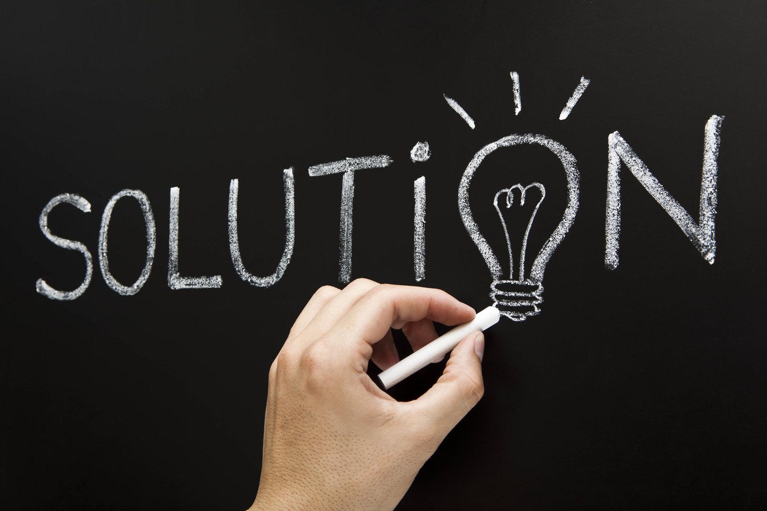 solution-chalkboard-concept
