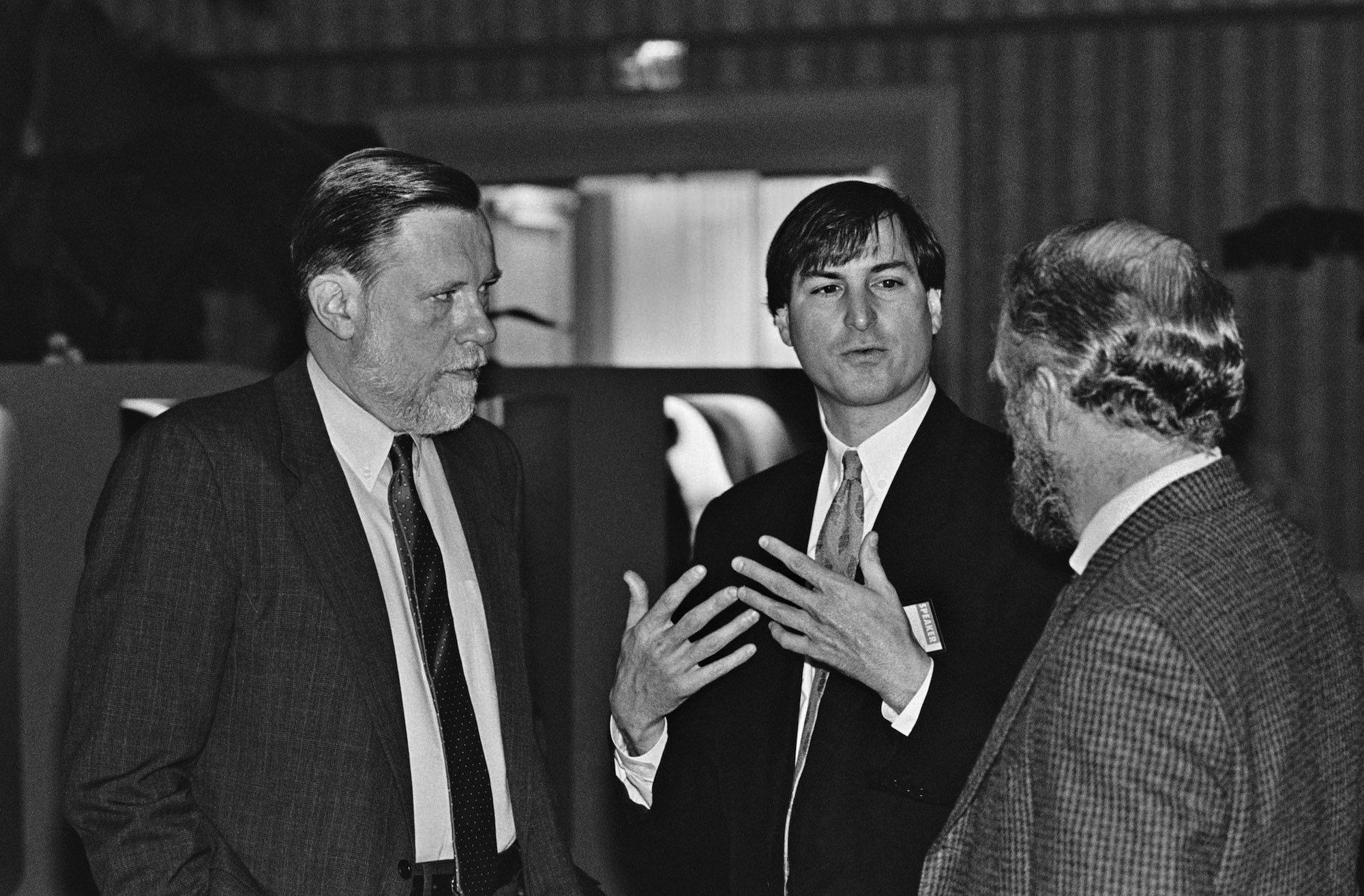 I fondatori di Adobe con Steve Jobs (Apple)