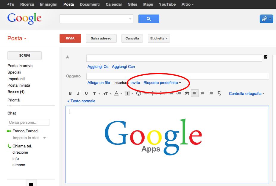 Google-Apps-Risposte-Predefinite