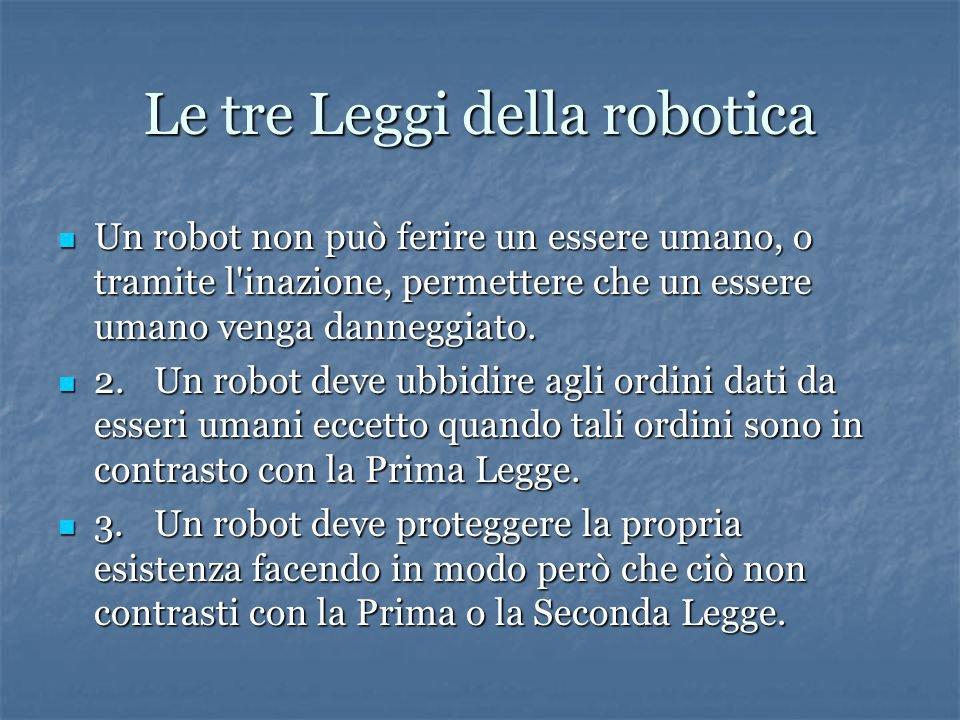 tre leggi robotica