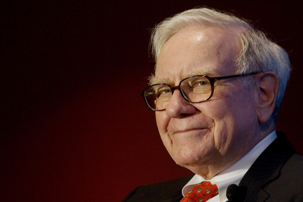 Warren Buffett, chairman of Berkshire Hathaway, Business Wire's parent company, speaking, Wednesday Feb. 6, 2008 in Toronto, Ontario, Canada, to members of the investor relations and corporate communications community invited by Business Wire to mark the opening of their expansion into Canada. Photographer: Norm Betts/Bloomberg News