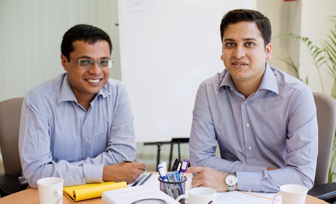 BANGALORE, SEPTEMBER 01, 2013 : Sachin Bansal and Binny Bansal, founders of Flipkart.com poses for a picture at their office in Kormangala. (Photo by Jyothy Karat)