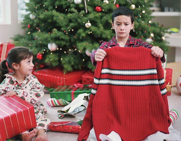 Boy and Girl Opening Chrismas Presents