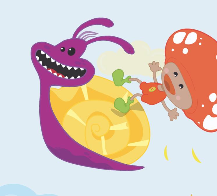 Ecco mash co l app con i cartoni animati interattivi per