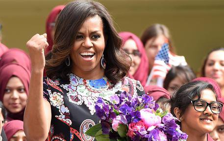 US First Lady Michelle Obama visits
