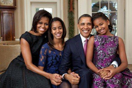 obama famiglia