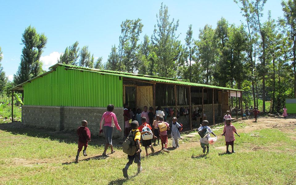 Singolo genitore che risale in Kenya